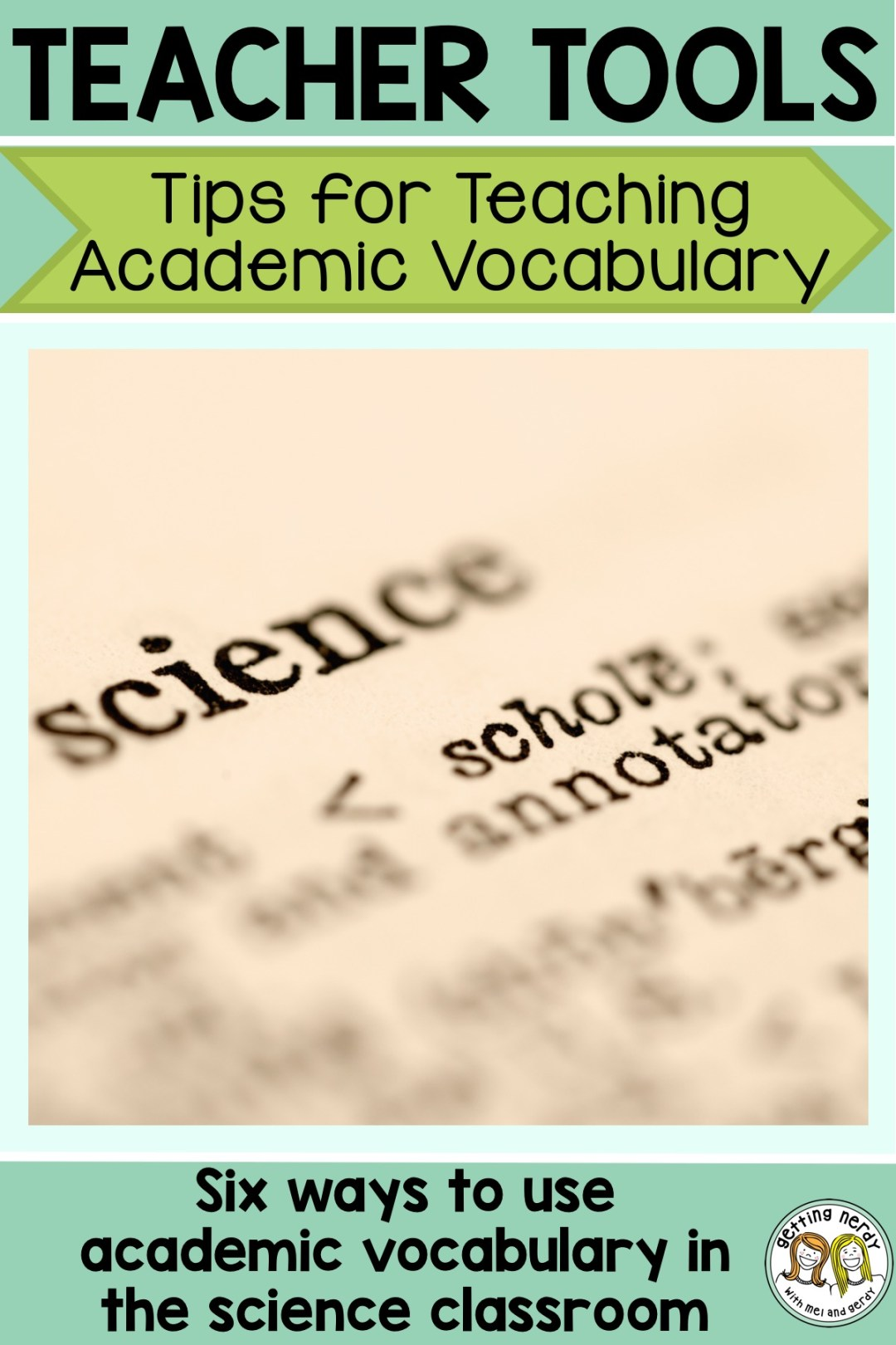 Check out these six tips on how to incorporate academic vocabulary using word walls in your daily lessons #gettingnerdyscience #wordwall #sciencewordwall #lifescience