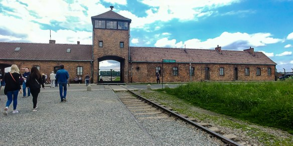 The infamous train entrance where prisoners entered the camp