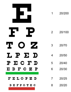 An eye chart is used to assess visual acuity with the use of alphabet letters and  semi standardized scoring system these charts are also most commonly numbers what they mean  fact healthcare rh facthealthcare