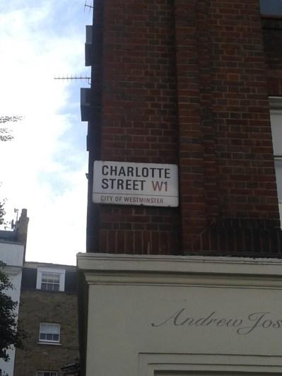 Charlotte street sign