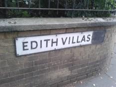 Edith Villas street sign