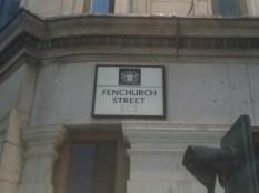Fenchurch Street - sign