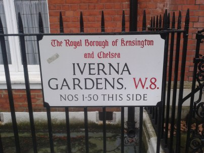Iverna - gardens street sign