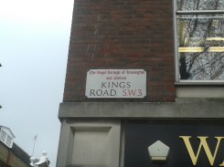 King's Road - sign