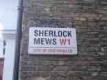 St Mary Axe - Sherlock Mews street sign
