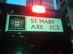 St Mary Axe - sign