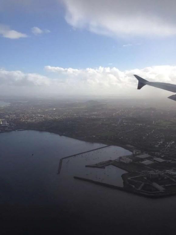 Edinburgh just before landing