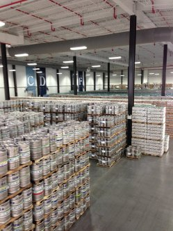 The Off-Centered Center at Dogfish. Los of fantastic beer waiting to ship out all over the land.