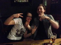 Jen and Dunc at Ross's birthday