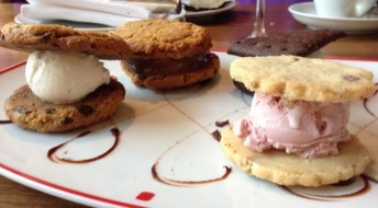 Only in America can you pay $8 at a fancy restaurant and get such epic ice cream sandwichery.