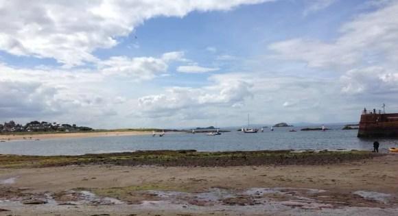 The beach in North Berwick, hooray!