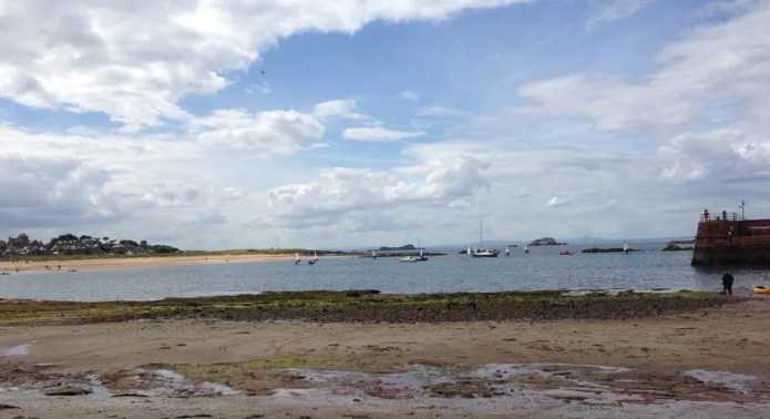The beach in North Berwick, hooray!