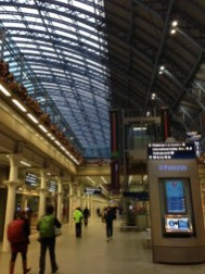 Leaving from a very festive St Pancras