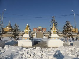 Buddhist temple on the hill