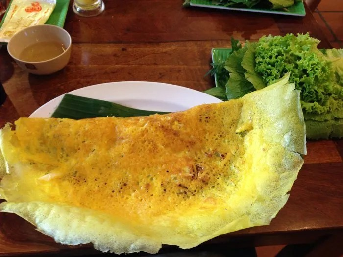Epic rice pancake with coconut meat which was bigger than my head.