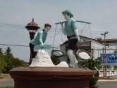 Salt workers statue