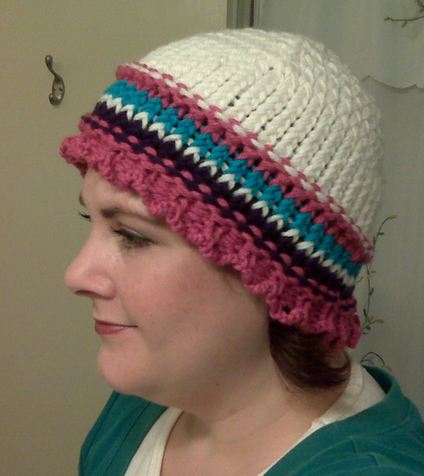 Ruffles and Stripes hat