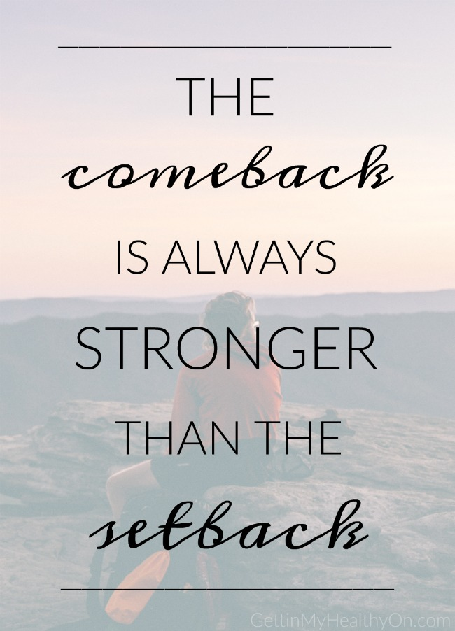 Image result for comeback stronger than setback