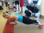 Incline pushup.
