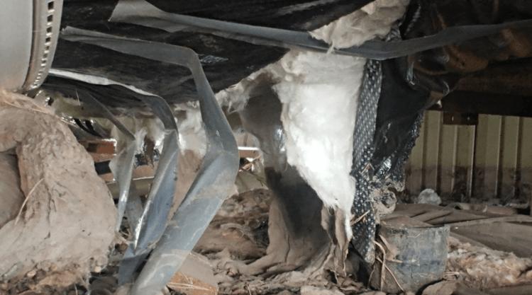 Westlock Alberta Modular home bellybag rip