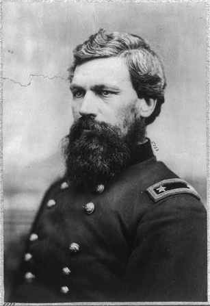 """Oliver Otis Howard, 1830-1909, bust portrait, facing left; in uniform."" Library of Congress Prints & Photographs Online Catalog. Digital ID: cph.3b00473. Reproduction Number: LC-USZ62-52494."