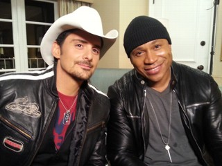 Brad Paisley (left) and LL Cool J (right). Photo credit ABC News.