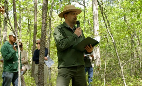 Eric Mink gives an interpretive program at the 150th commemoration of the Battle of Chancellorsville.