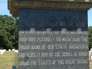Monument inscription. Photo credit Blake Altenberg.