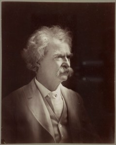 Now known by his infamous nom de plume, Mark Twain, the ex-Confederate soldier poses for a picture in the last years of his life. He would die on April 21st, 1910, three years after this photo was taken. Photo courtesy of Library of Congress. A. F. Bradley. Mark Twain, head-and-shoulders portrait, facing right. 1907.