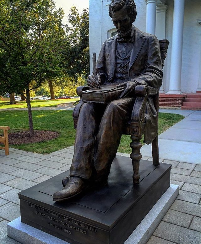President Lincoln Finds a Permanent Seat on Campus: The Dedication of the New Abraham Lincoln Statue Outside Stevens Hall
