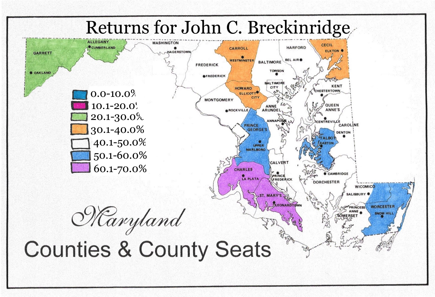 The Union Forever Frederick Maryland in the Elections of 1860