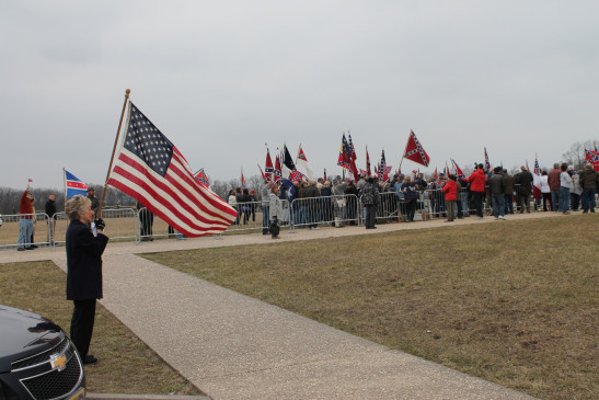 A Confederate flag rally was held in Gettysburg in March 2016. Photo credit: Jeff Lauck.