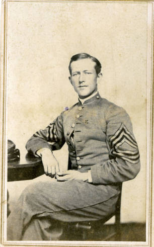 Otis Glazebrook, founder of Alpha Tau Omega, and veteran of the Battle of New Market. ca. 1866. Via Virginia Military Institute Archives Digital Collection