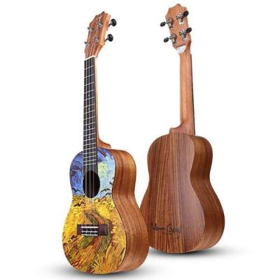 Tom Van Gogh Series 23 Inch Acacia Wood Ukulele With Gig Bag