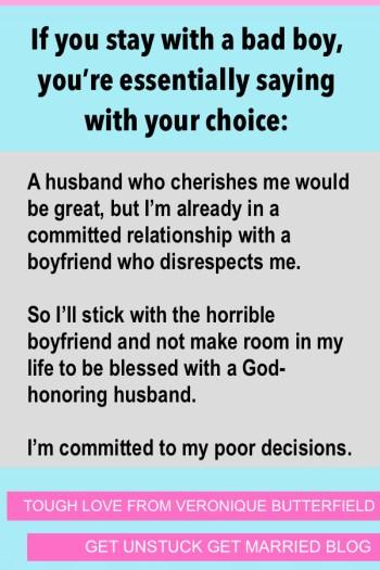 Bad Boys-Christian Girls Relationships
