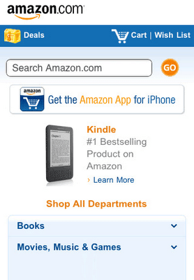 Amazon.com email marketing mobile