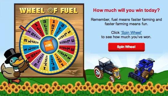 Zynga Email Marketing Wheel of Fuel