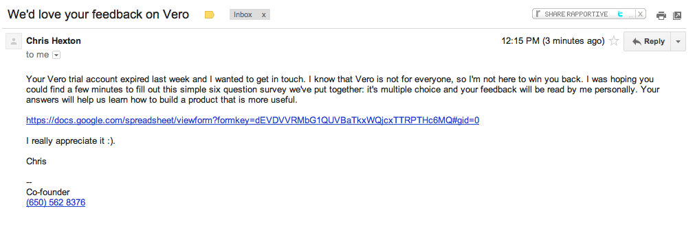 vero-survey-email
