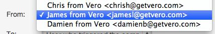 Vero Email Example