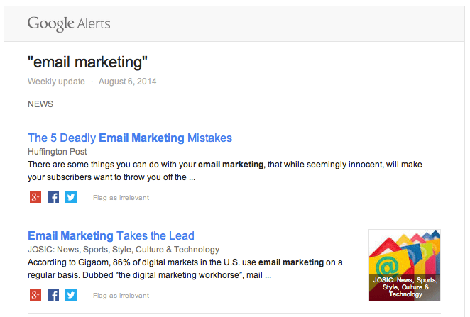 email marketing-alerts