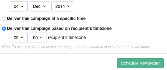 email marketing send in time zone
