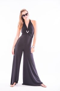 Black Silk jersey Jumpsuit