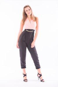 Black and Peach Jumpsuit