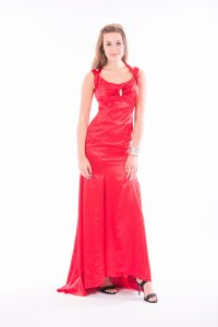 Crepe-backed Satin Evening Dress