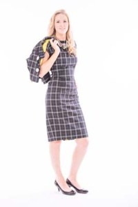 1950's Style Check 2 Piece