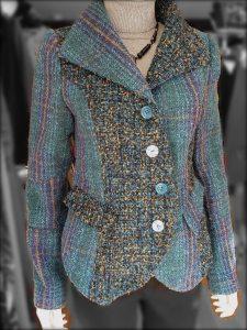 Teal & Grey Tweed Jacket