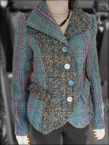 Teal & Grey Tweed Jacket