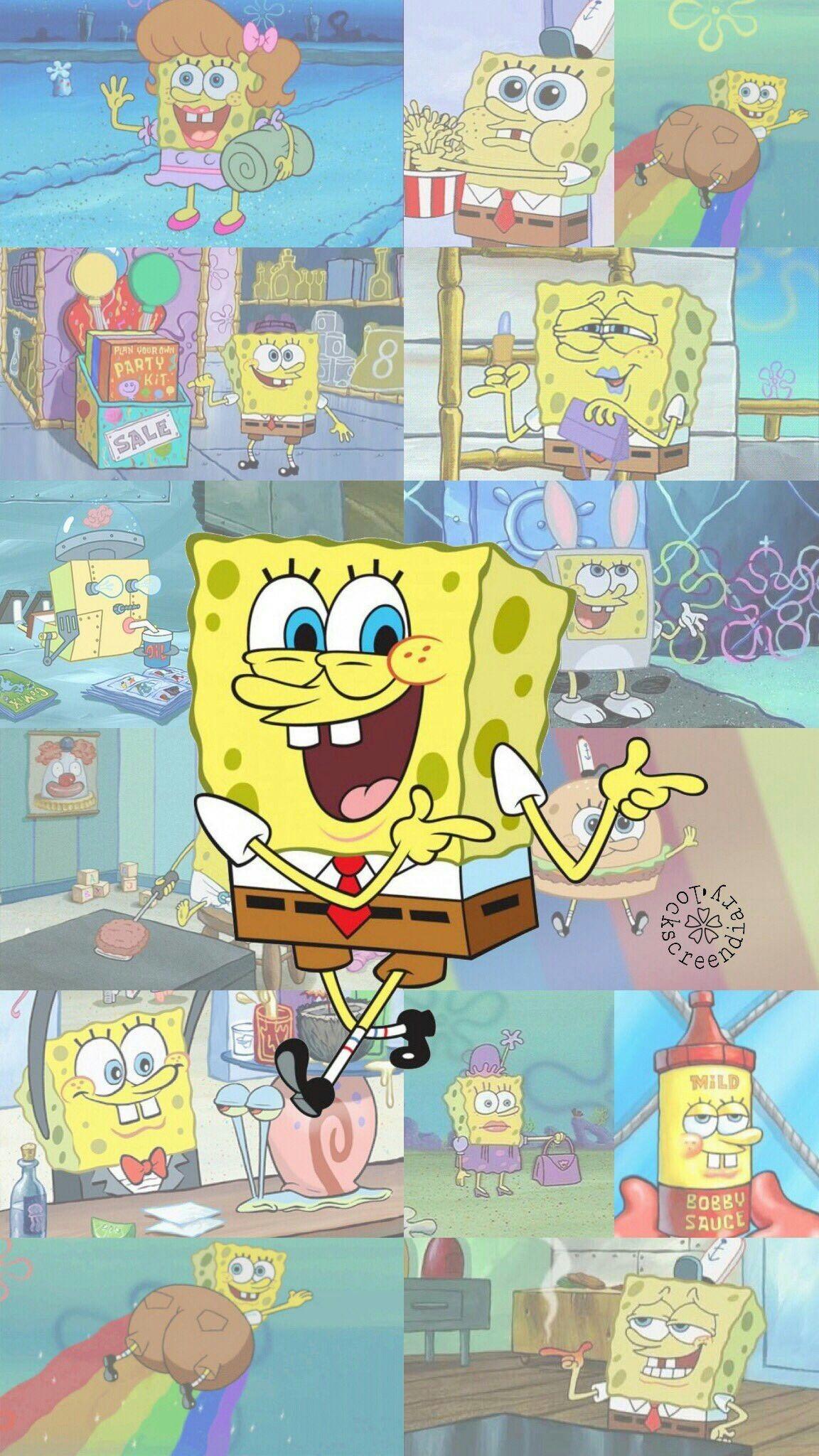 Iphone Funny Spongebob Background