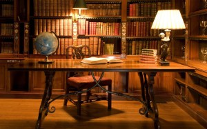 study library wallpapers interior decorative