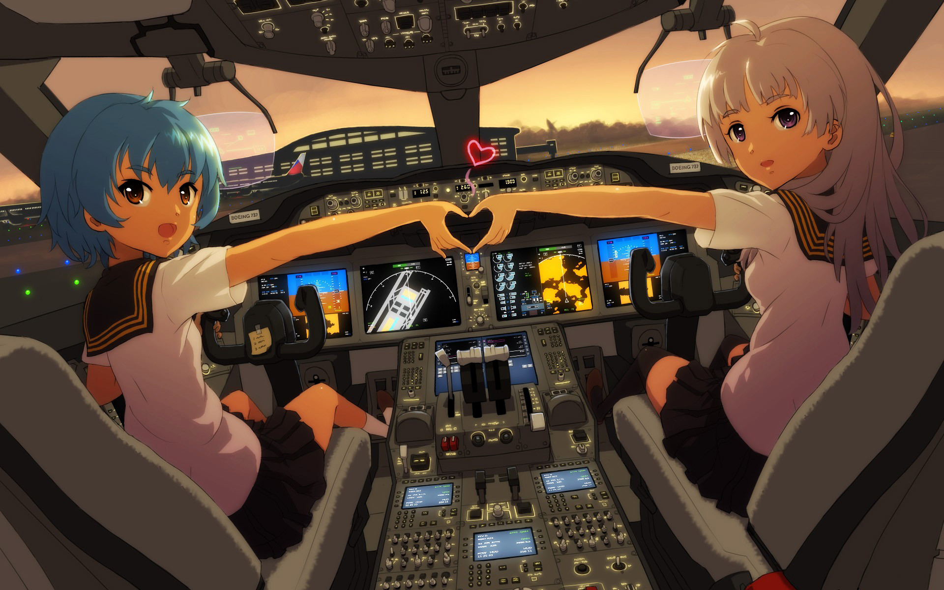 Ghibli Wallpaper Iphone Airplane Cockpit Wallpaper Hd 73 Images